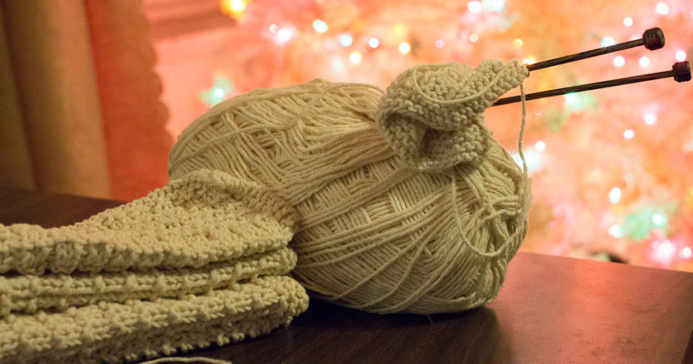 Yarn Along: Dish Cloths