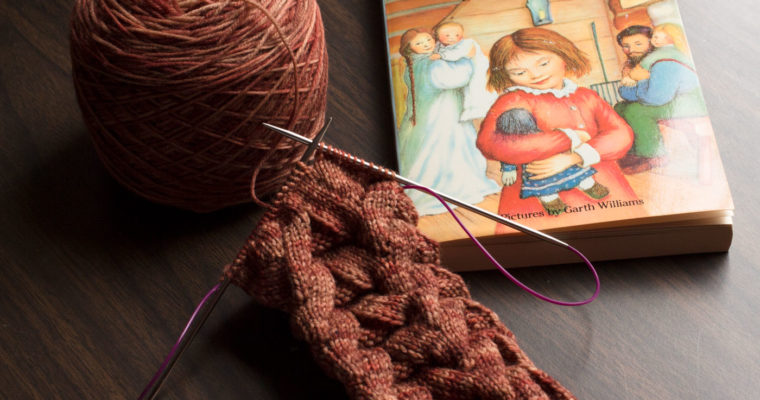 Yarn Along: Monkey Socks & Little House